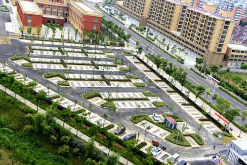總造價640萬,天長東市區廣陵生態停車場即將投入使用
